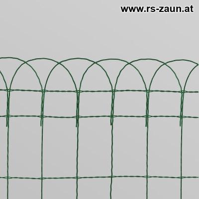 Ziergitter / Gartenbordüre grün 10 m Rolle