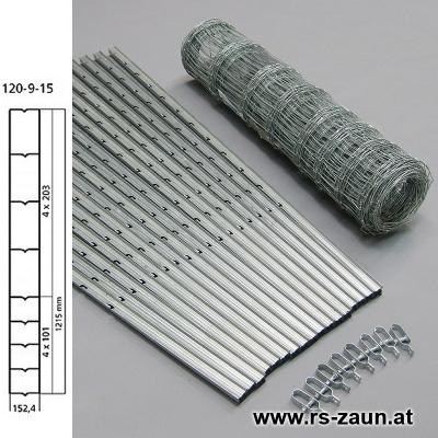 W-Forstprofil Wildschutzzaunset 120-9-15 1,20X50m