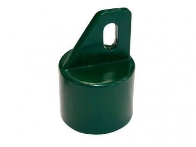 Strebenkappe Aluminium + grün