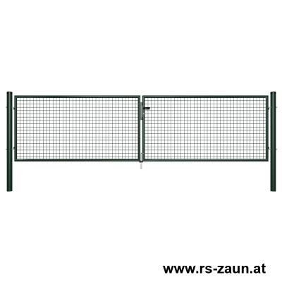 Garten-Doppeltor grün 4000mm Breite
