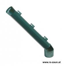 Stacheldrahtaufsetzer grün mit Aluminiumwinkel grün 42/42/300 mm