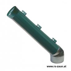 Stacheldrahtaufsetzer grün mit Aluminiumwinkel 60/60/300 mm
