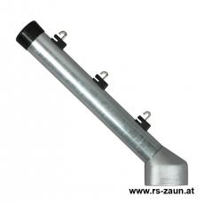 Stacheldrahtaufsetzer fvz. mit Aluminiumwinkel 60/42/300 mm