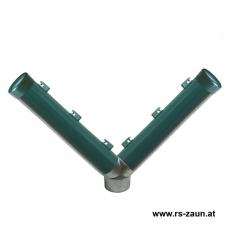 Stacheldrahtaufsetzer grün mit Y-Aluminiumwinkel 60/60/60/300 mm