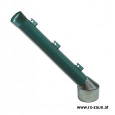 Stacheldrahtaufsetzer grün mit Aluminiumwinkel 60/42/300 mm