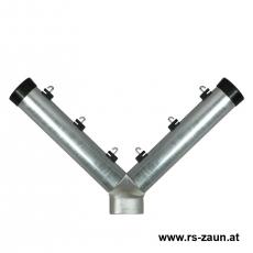 Stacheldrahtaufsetzer fvz. mit Y-Aluminiumwinkel 60/60/60/300 mm