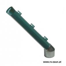 Stacheldrahtaufsetzer grün mit Aluminiumwinkel 48/42/300 mm