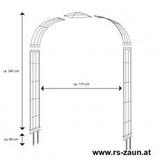 Rosenbogen 5-tlg. feuerverzinkt ca. 2450x1750x400 mm