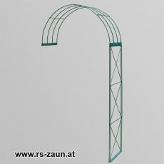 Rosenbogen 2-tlg. Kreuz grün ca. 2300x1200x400 mm