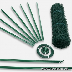 Zaunset T-Profilpfosten Maschendraht grün 60X60x2,8mm 15m
