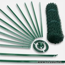 Zaunset T-Profilpfosten Maschendraht grün 50X50X2,8mm 25m