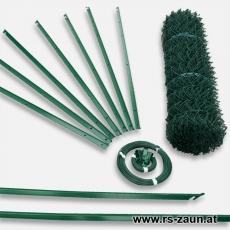 Zaunset T-Profilpfosten Maschendraht grün 40X40X2,8mm 15m