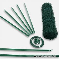 Zaunset T-Profilpfosten Maschendraht grün 30X30X2,4mm 10m
