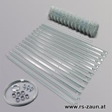 Zaunset Maschendraht dickverzinkt 50X50X2,0mm 25m