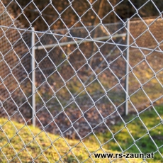 Zaunset Rundpfosten Maschendraht verzinkt 50X50X2,0mm 25m