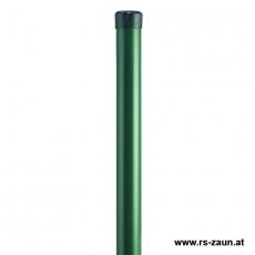 Zaunpfahl verzinkt + grün Ø 34mm ohne Drahthalter