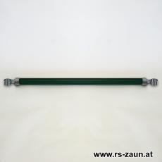 Spannbrücke Ø 42mm mit Edelstahlschellen 42mm und Alukappen