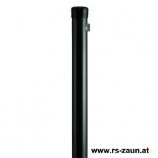 Zaunpfahl Ø 34mm verzinkt + schwarz mit Drahthalter