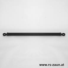 Spannbrücken 34x2000mm verzinkt + schwarz mit versch. Schellen
