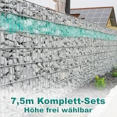 Gabionenzaun-Set 8-6-8 feuerverzinkt 7,5m