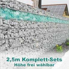Gabionenzaun-Set 6-5-6 feuerverzinkt 2,5m