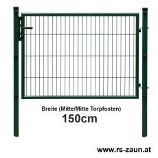 Gartentor EASY-B-EASY feuerverzinkt + pulverbeschichtet grün 1500mm Breite