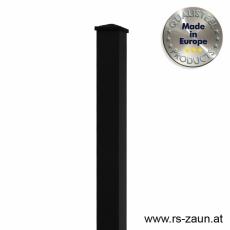 Rechteckpfosten schwarz 60 x 40 x 2mm