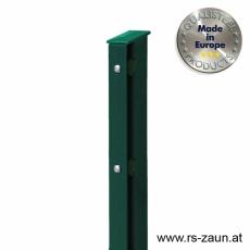 Rechteckpfosten mit Abdeckleiste grün 60 x 40mm