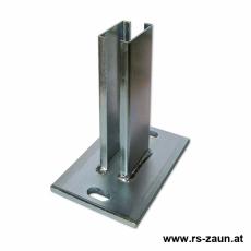 Standfuß für Pfosten 60 x 40 x 1,5-2,0mm