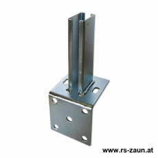 Standfußwinkel fvz. für Rechteckpfosten 60x40 mm