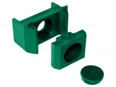 Klemmhalter grün für Rechteckpfosten 40mm