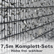 Gabionenzaun-Set 6-5-6 anthrazit 7,5m