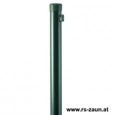 Zaunpfahl verzinkt + grün Ø 34mm mit Drahthalter