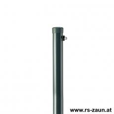 Zaunpfahl verzinkt + grün Ø 60mm mit Drahthalter DR70