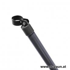 Zaunstrebe Ø 38mm verzinkt + anthrazit mit Schelle 48mm