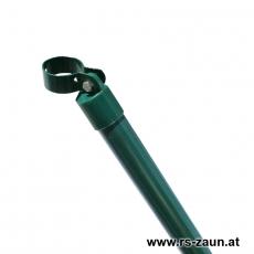 Zaunstrebe Ø 48mm verzinkt + grün mit Schelle 76mm