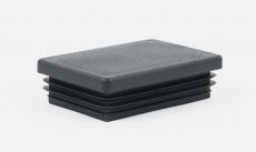 Pfostenkappe schwarz flach für Rechteckpfosten 60 x 40 mm