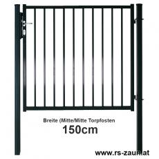 Zauntor BARO feuerverzinkt oder fvz. + pulverbeschichtet 1500 mm Breite