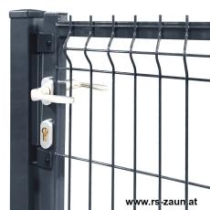 3D Zauntor ARGO 1000 mm Breite in grün oder anthrazit pulverbeschichtet
