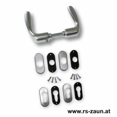 Drückergarnitur Aluminium inkl. Rosetten