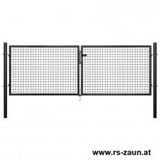 Garten-Doppeltor schwarz 3000mm Breite