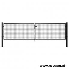 Garten-Doppeltor schwarz 4000mm Breite