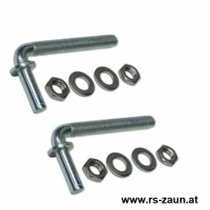 1 Paar Toraufhängungen vz. M12 x 110 mm