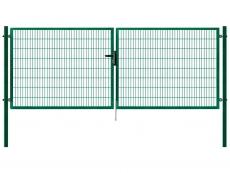 Gartentor grün 4.000mm Breite