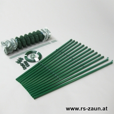 Zaunset Rundpfosten Maschendraht grün 50 X 50 X 3mm 25m