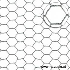 Sechseckgeflecht verzinkt 25 x 0,8mm/1,0 x 50m