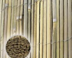 Sichtschutz / Windschutz / Bambusrohr gespalten 5m Rollen